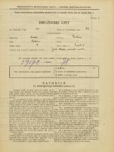 Popis prebivalstva 31. 3. 1931<br />Ljubljana<br />Zavrti 6<br />Population census 31 March 1931