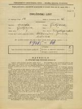 Popis prebivalstva 31. 3. 1931<br />Ljubljana<br />Zrinjskega cesta 6<br />Population census 31 March 1931