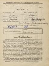 Popis prebivalstva 31. 3. 1931<br />Ljubljana<br />Žabjak 14<br />Population census 31 March 1931