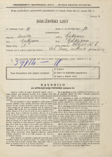 Popis prebivalstva 31. 3. 1931<br />Ljubljana<br />Žabjak 4<br />Population census 31 March 1931
