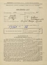 Popis prebivalstva 31. 3. 1931<br />Ljubljana<br />Železnikarjeva ulica 6<br />Population census 31 March 1931