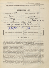 Popis prebivalstva 31. 3. 1931<br />Ljubljana<br />Žibertova ulica 28<br />Population census 31 March 1931