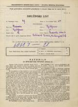Popis prebivalstva 31. 3. 1931<br />Ljubljana<br />Židovska steza 6<br />Population census 31 March 1931
