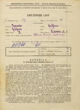 Popis prebivalstva 31. 3. 1931<br />Ljubljana<br />Židovska ulica 1<br />Population census 31 March 1931