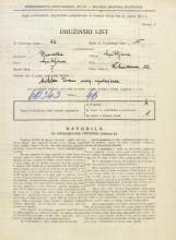 Popis prebivalstva 31. 3. 1931<br />Ljubljana<br />Žitnikova ulica 12<br />Population census 31 March 1931