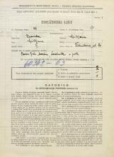 Popis prebivalstva 31. 3. 1931<br />Ljubljana<br />Žitnikova ulica 20<br />Population census 31 March 1931