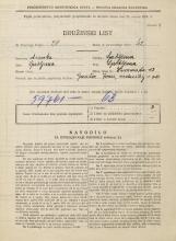 Popis prebivalstva 31. 3. 1931<br />Ljubljana<br />Zvonarska ulica 13<br />Population census 31 March 1931