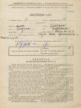 Popis prebivalstva 31. 3. 1931<br />Ljubljana<br />Zvonarska ulica 7<br />Population census 31 March 1931