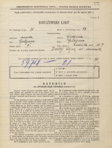 Popis prebivalstva 31. 3. 1931<br />Ljubljana<br />Zvonarska ulica 9<br />Population census 31 March 1931