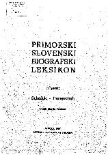 Primorski slovenski biografski leksikon<br />15. snopič<br />Suhadolc - Theuerschuh