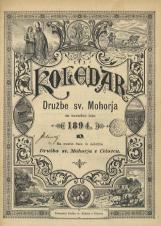 Koledar Družbe sv. Mohorja: za navadno leto 1894