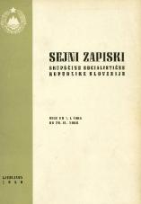 Sejni zapiski Skupščine Socialistične republike Slovenije<br />Seje od 1. I. 1968 do 29. II. 1968