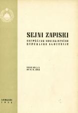Sejni zapiski Skupščine Socialistične republike Slovenije<br />Seje od 1. I. do 6. II. 1964