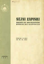 Sejni zapiski Skupščine Socialistične republike Slovenije<br />Seje od 1. X. 1966 do 30. XI. 1966