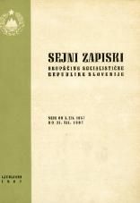 Sejni zapiski Skupščine Socialistične republike Slovenije<br />Seje od 1. XII. 1967 do 31. XII. 1967