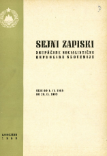 Sejni zapiski Skupščine Socialistične republike Slovenije<br />Seje od 1. II. 1969 do 28. II. 1969