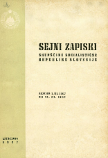 Sejni zapiski Skupščine Socialistične republike Slovenije<br />Seje od 1. III. 1967 do 31. III. 1967