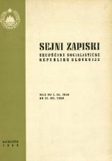 Sejni zapiski Skupščine Socialistične republike Slovenije<br />Seje od 1. III. 1968 do 31. III. 1968