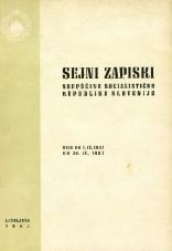 Sejni zapiski Skupščine Socialistične republike Slovenije<br />Seje od 1. IV. 1967 do 30. IV. 1967