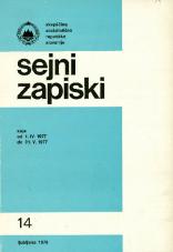 Sejni zapiski Skupščine Socialistične republike Slovenije, št. 14<br />Seje od 1. IV. 1977 do 31. V. 1977<br />Sejni zapiski Skupščine Socialistične republike Slovenije, no. 14