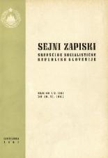 Sejni zapiski Skupščine Socialistične republike Slovenije<br />Seje od 1. V. 1967 do 30. VI. 1967