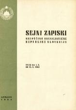 Sejni zapiski Skupščine Socialistične republike Slovenije<br />Seje od 1. V. 1964 do 30. V. 1964