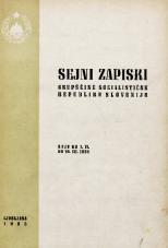 Sejni zapiski Skupščine Socialistične republike Slovenije<br />Seje od 1. VI. do 10. VII. 1964