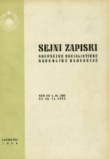Sejni zapiski Skupščine Socialistične republike Slovenije<br />Seje od 1. VI. 1965 do 30. VI. 1965
