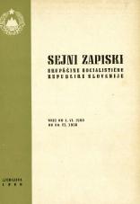 Sejni zapiski Skupščine Socialistične republike Slovenije<br />Seje od 1. VI. 1968 do 30. VI. 1968