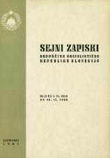 Sejni zapiski Skupščine Socialistične republike Slovenije<br />Seje od 1. VI. 1966 do 30. IX. 1966