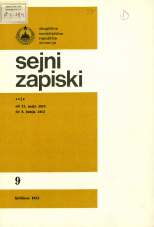 Sejni zapiski Skupščine Socialistične republike Slovenije, št. 9<br />Seje od 11. maja 1983 do 6. junija 1983<br />Sejni zapiski Skupščine Socialistične republike Slovenije, no. 9