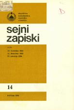 Sejni zapiski Skupščine Socialistične republike Slovenije, št. 14<br />Seje 14. decembra 1983, 27. decembra 1983, 25. januarja 1983<br />Sejni zapiski Skupščine Socialistične republike Slovenije, no. 14