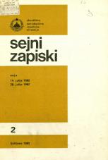 Sejni zapiski Skupščine Socialistične republike Slovenije, št. 2<br />Seje 14. julija 1982, 28. julija 1982<br />Sejni zapiski Skupščine Socialistične republike Slovenije, no. 2