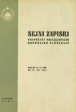 Sejni zapiski Skupščine Socialistične republike Slovenije<br />Seje od 15. XI. 1965 do 31. XII. 1965