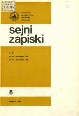 Sejni zapiski Skupščine Socialistične republike Slovenije, št. 6<br />Seje od 15. decembra 1982 do 27 decembra 1982<br />Sejni zapiski Skupščine Socialistične republike Slovenije, no. 6