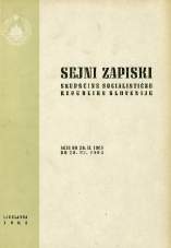 Sejni zapiski Skupščine Socialistične republike Slovenije<br />Seje od 20. II. 1965 do 28. III. 1965