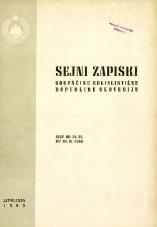 Sejni zapiski Skupščine Socialistične republike Slovenije<br />Seje od 24. VI. do 30. IX. 1963