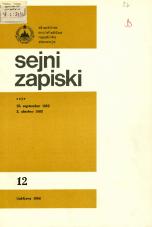 Sejni zapiski Skupščine Socialistične republike Slovenije, št. 12<br />Seje 28. septembra 1983, 3. oktobra 1983<br />Sejni zapiski Skupščine Socialistične republike Slovenije, no. 12