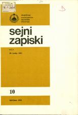 Sejni zapiski Skupščine Socialistične republike Slovenije, št. 10<br />Seje 29. junija 1983<br />Sejni zapiski Skupščine Socialistične republike Slovenije, no. 10