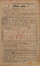 Popis prebivalstva 20. 12. 1921<br />Ljubljana<br />Ahacljeva cesta 1<br />Population census 20 December 1921