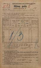 Popis prebivalstva 20. 12. 1921<br />Ljubljana<br />Ahacljeva cesta 11<br />Population census 20 December 1921