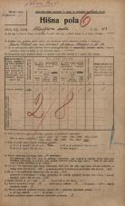 Popis prebivalstva 20. 12. 1921<br />Ljubljana<br />Ahacljeva cesta 13<br />Population census 20 December 1921