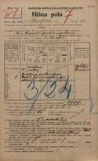 Popis prebivalstva 20. 12. 1921<br />Ljubljana<br />Ahacljeva cesta 15<br />Population census 20 December 1921