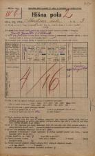 Popis prebivalstva 20. 12. 1921<br />Ljubljana<br />Ahacljeva cesta 3<br />Population census 20 December 1921