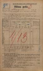 Popis prebivalstva 20. 12. 1921<br />Ljubljana<br />Ahacljeva cesta 5<br />Population census 20 December 1921