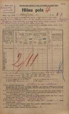 Popis prebivalstva 20. 12. 1921<br />Ljubljana<br />Ahacljeva cesta 7<br />Population census 20 December 1921