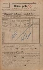 Popis prebivalstva 20. 12. 1921<br />Ljubljana<br />Aleksandrova cesta 11<br />Population census 20 December 1921