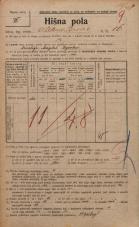 Popis prebivalstva 20. 12. 1921<br />Ljubljana<br />Aleksandrova cesta 16<br />Population census 20 December 1921