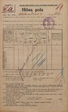 Popis prebivalstva 20. 12. 1921<br />Ljubljana<br />Aleksandrova cesta 22<br />Population census 20 December 1921