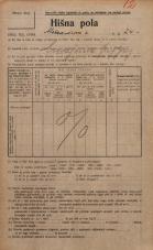 Popis prebivalstva 20. 12. 1921<br />Ljubljana<br />Aleksandrova cesta 24<br />Population census 20 December 1921